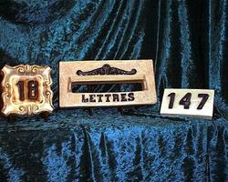 Boîtes aux lettres et numéro